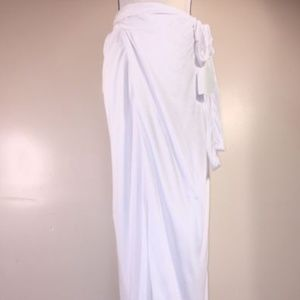 Peace Love World Boheme Wrap Maxi Skirt White Tie